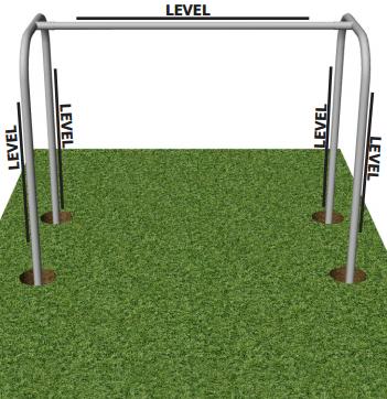 Proceso de instalación del patio de recreo - Cómo colocar e instalar el juego de columpios de los patios de recreo de componentes